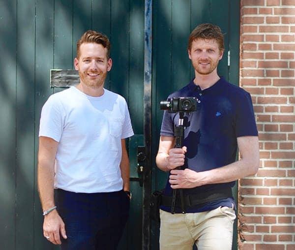 Sander Wüstefeld en Stefan de Jong van Woeste Jongens Producties